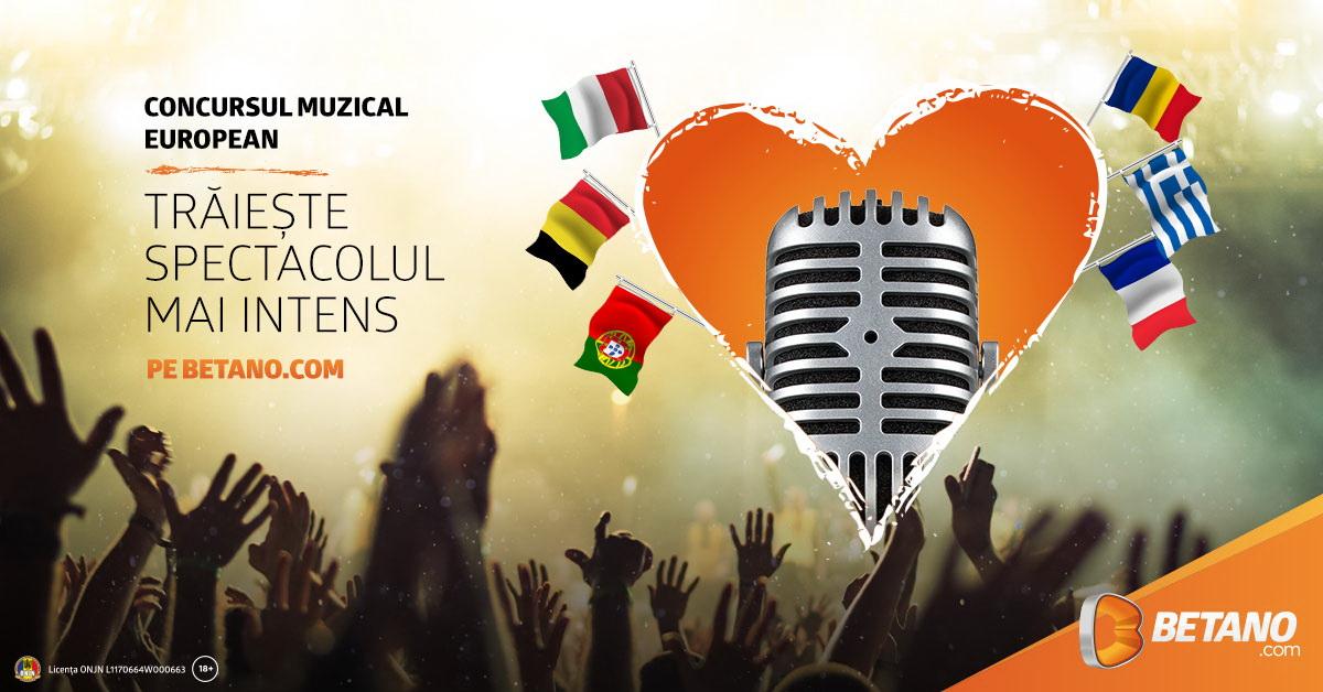 eurovision betano pariuri